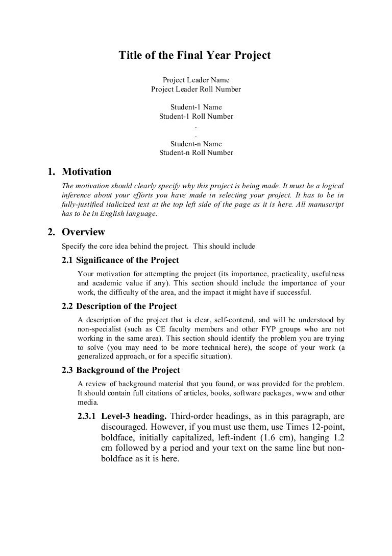 008 Magnificent Research Project Proposal Example Pdf Inspiration  FormatFull