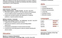 008 Magnificent Resume Example For Teacher Job Highest Quality  Sample Cv School
