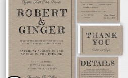 008 Magnificent Rustic Wedding Invitation Template Example  Templates Free For Word Maker Photoshop