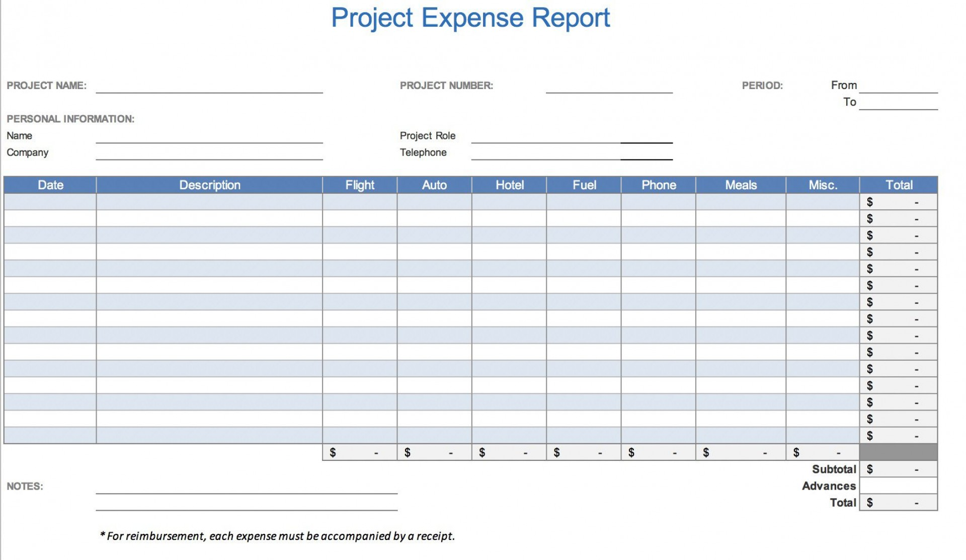 008 Magnificent Simple Expense Report Template Sample  Example Free Form1920