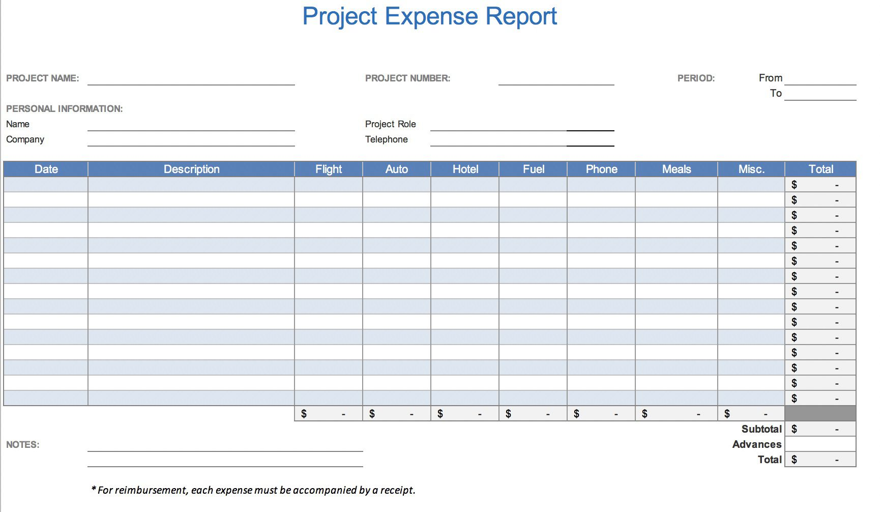 008 Magnificent Simple Expense Report Template Sample  Example Free FormFull