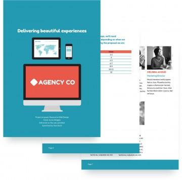 008 Magnificent Website Design Proposal Template Highest Quality  Pdf Redesign Web Indesign360