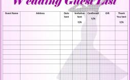 008 Magnificent Wedding Guest List Excel Spreadsheet Template Design