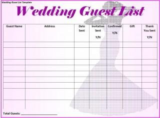 008 Magnificent Wedding Guest List Excel Spreadsheet Template Design 320