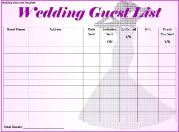 008 Magnificent Wedding Guest List Excel Spreadsheet Template Design 360