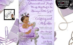 008 Marvelou Baby Shower Invitation Girl Purple Inspiration