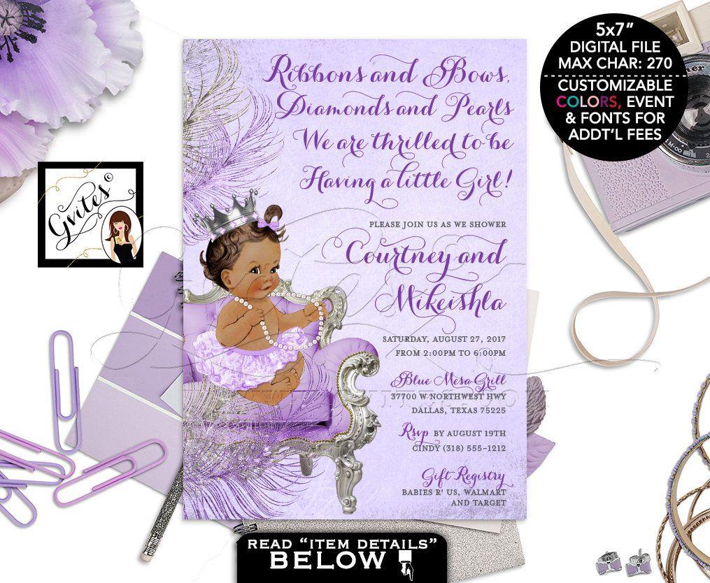 008 Marvelou Baby Shower Invitation Girl Purple Inspiration Full