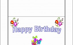 008 Marvelou Blank Birthday Card Template For Word Idea  Free