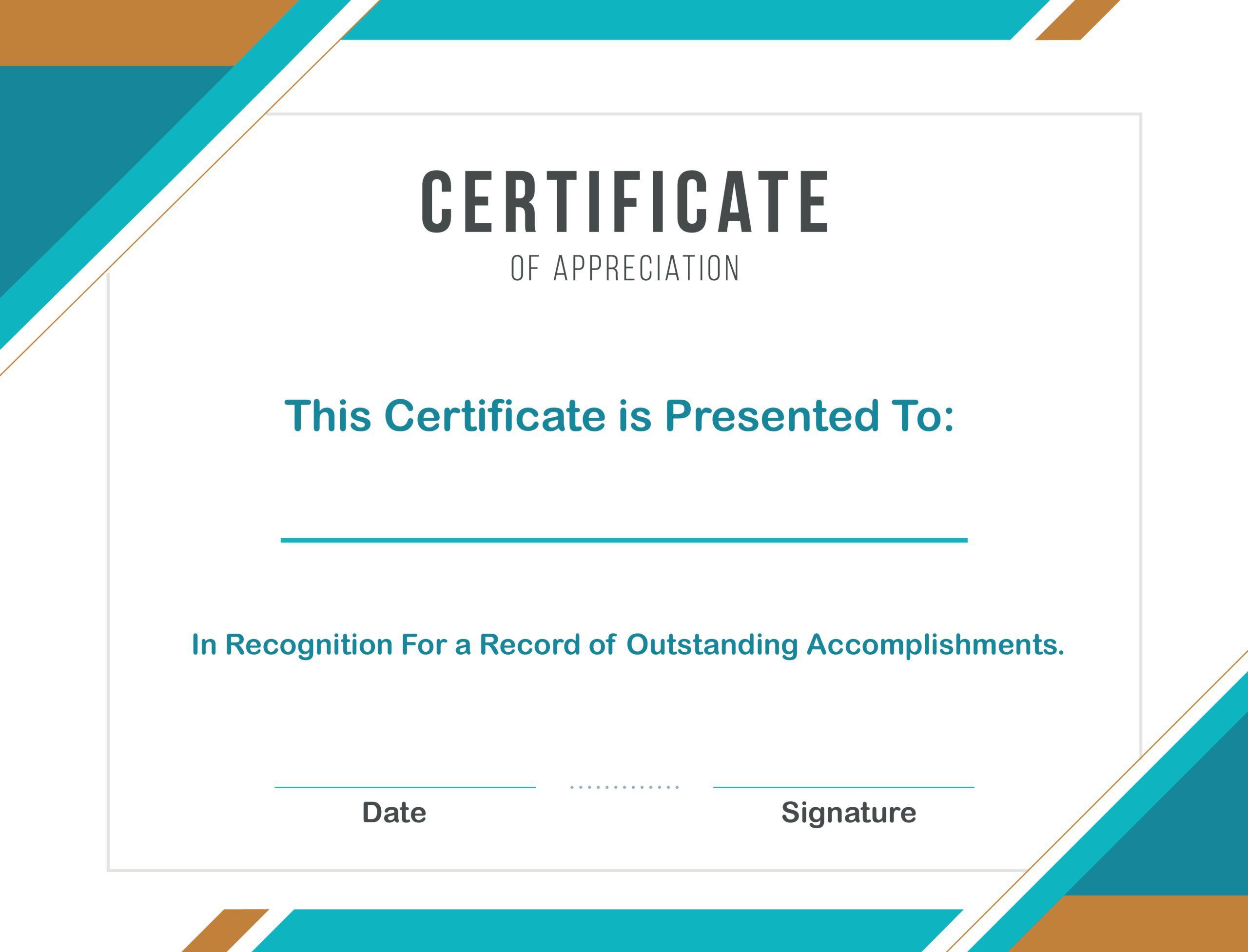 008 Marvelou Certificate Template For Word Highest Clarity  Award 2007 MFull