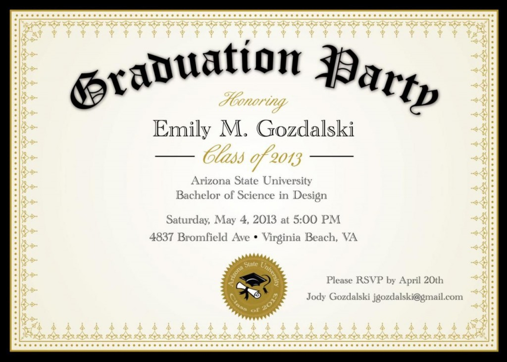 008 Marvelou Diy Graduation Announcement Template Free High Definition  InvitationLarge