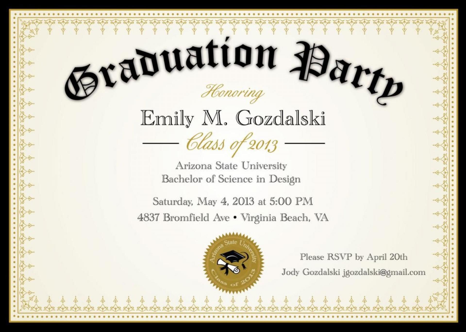 008 Marvelou Diy Graduation Announcement Template Free High Definition  Invitation1920