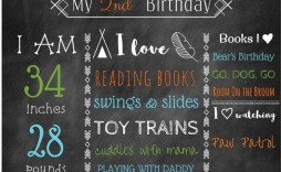 008 Marvelou Free Birthday Chalkboard Template High Definition  First Printable Baby
