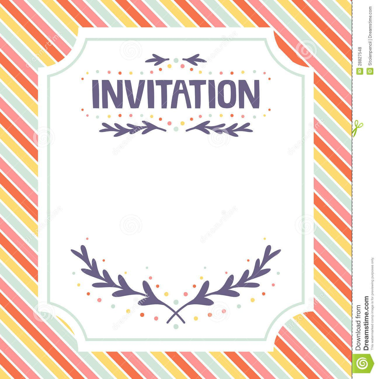 Free Downloadable Invitation Templates Addictionary