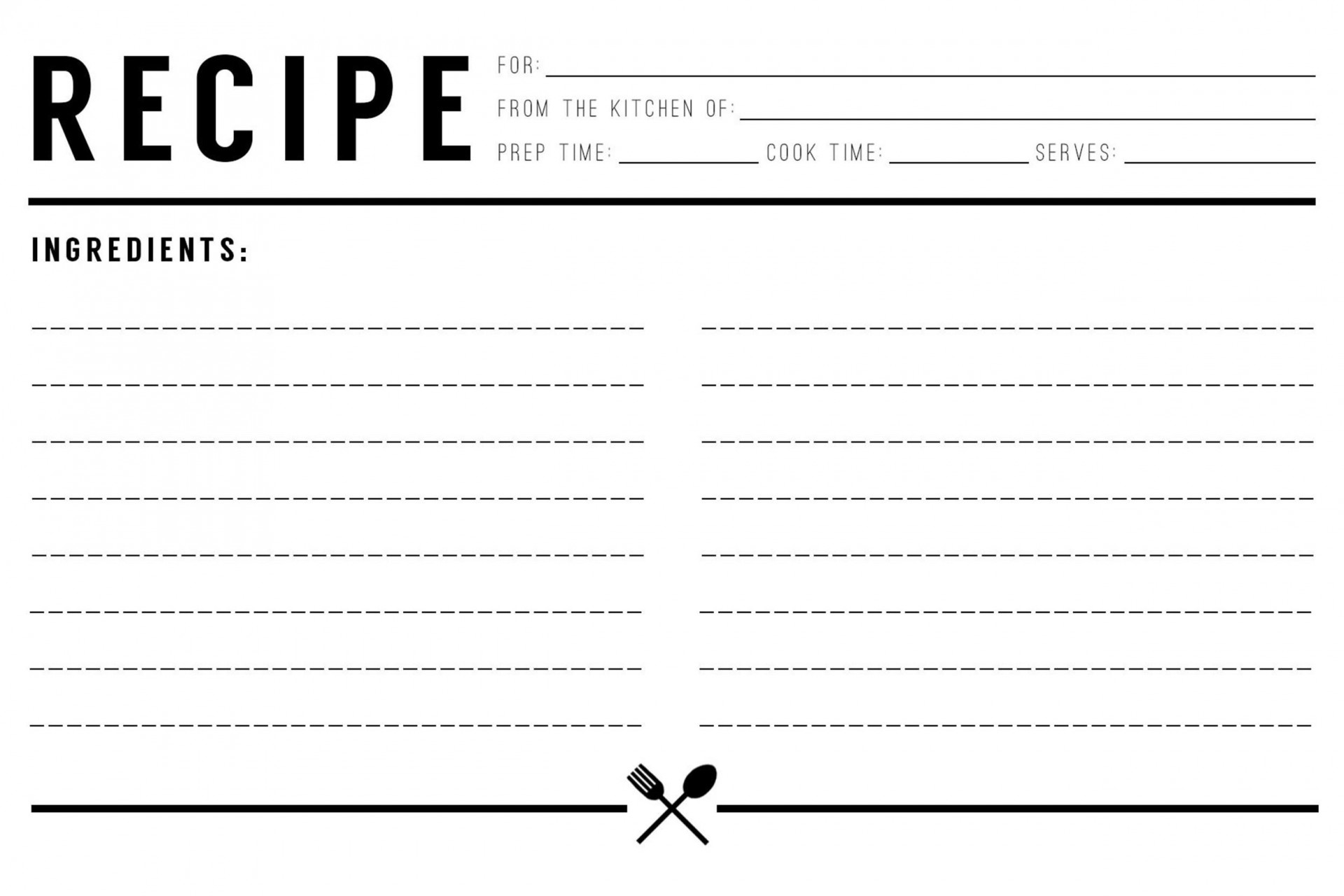 008 Marvelou Free Recipe Template For Word High Resolution  Editable Page Book1920