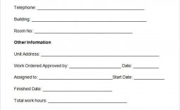 008 Marvelou Maintenance Work Order Template Design  Form Free Sample