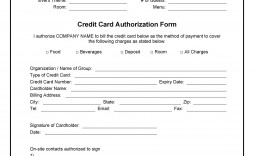 008 Marvelou One Time Credit Card Payment Authorization Form Template Highest Clarity