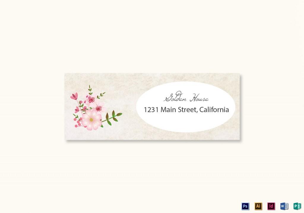 008 Marvelou Wedding Addres Label Template Design  Free PrintableLarge