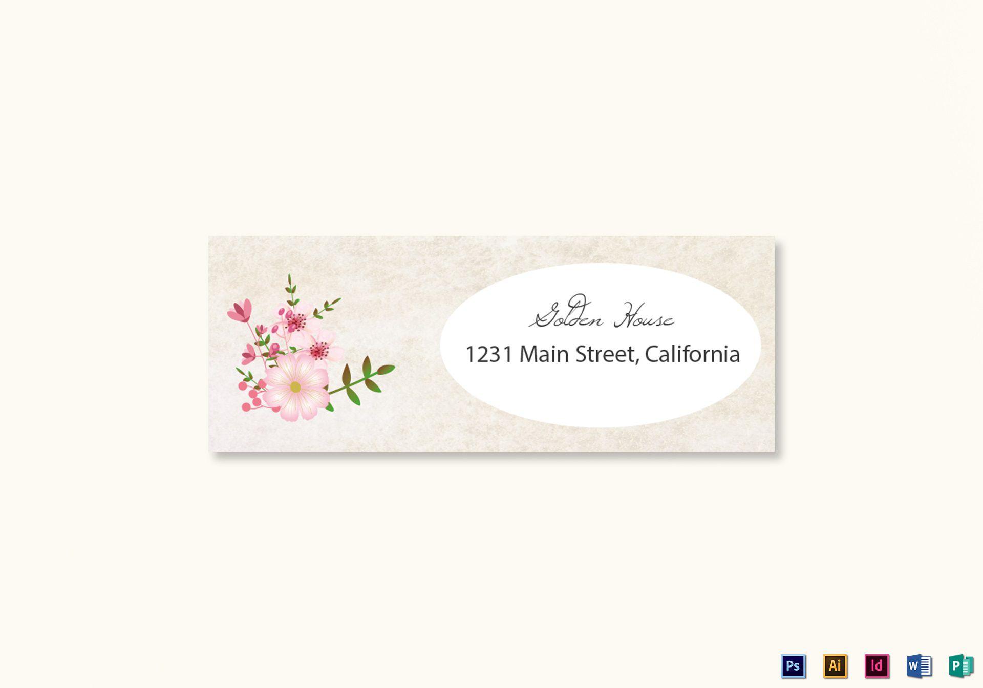 008 Marvelou Wedding Addres Label Template Design  Free PrintableFull