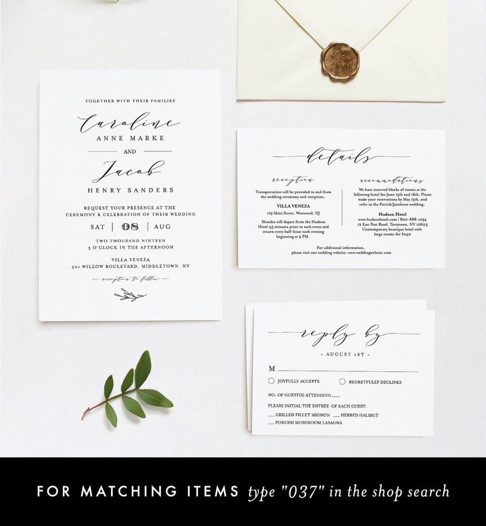008 Marvelou Wedding Hotel Welcome Letter Template High Definition 960