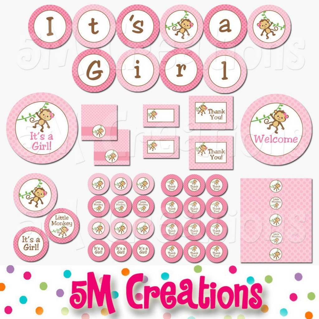 008 Outstanding Baby Shower Printable Girl Photo  Sheet Cake Cute For ALarge