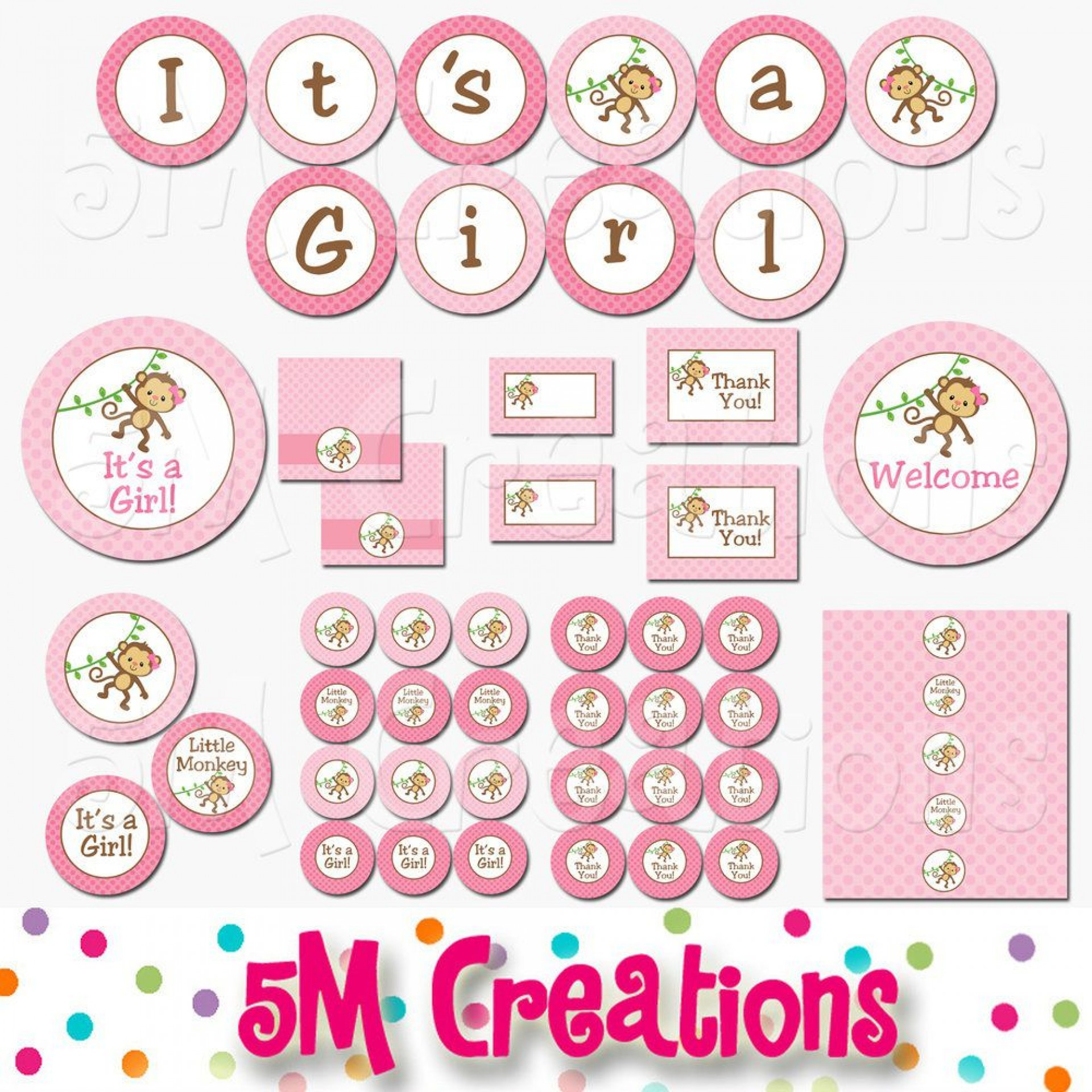 008 Outstanding Baby Shower Printable Girl Photo  Sheet Cake Cute For A1920