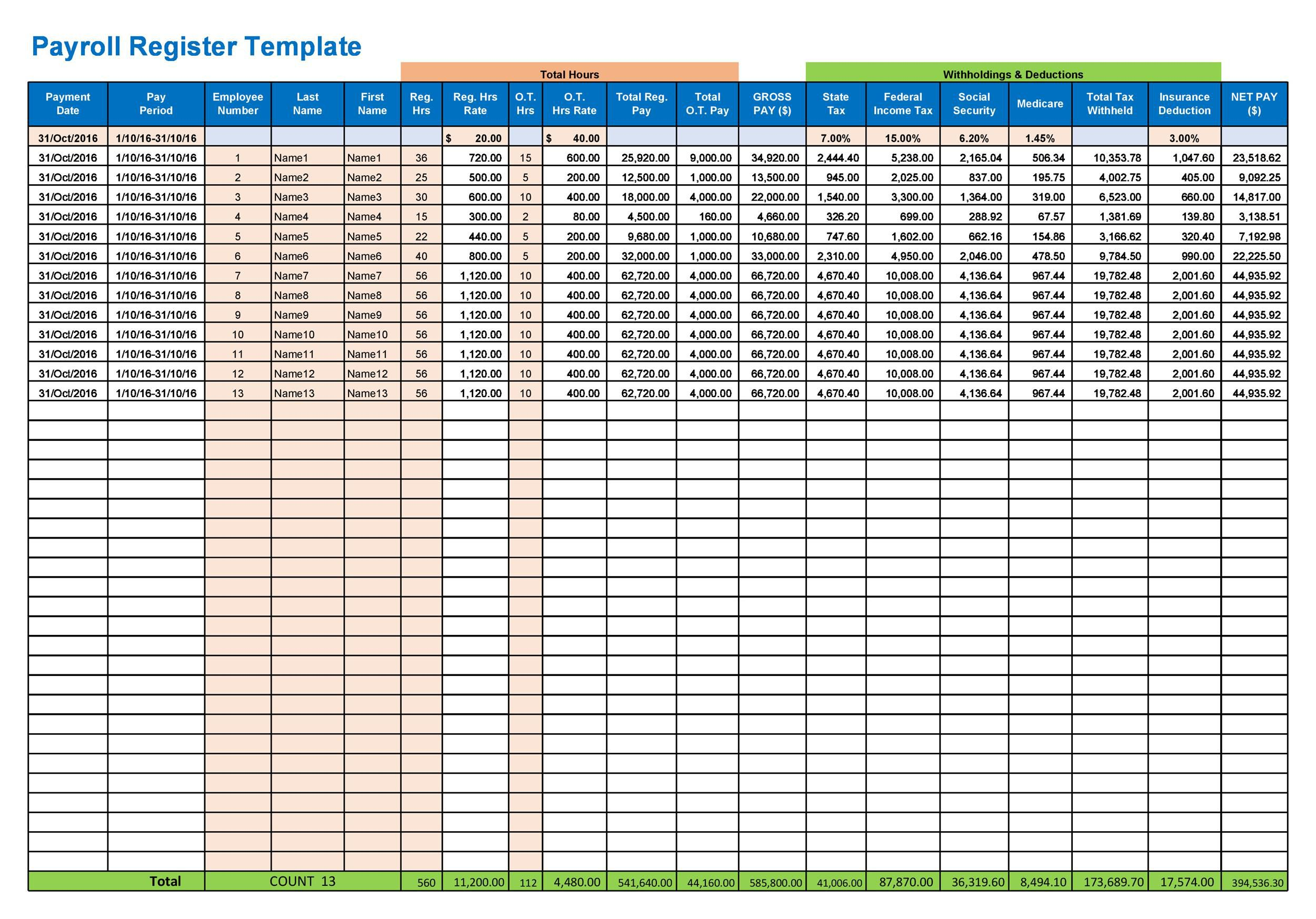008 Outstanding Excel Payroll Template 2016 Inspiration Full