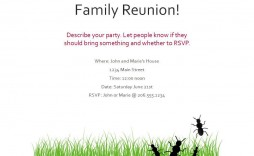 008 Outstanding Family Reunion Flyer Template Word High Def