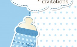 008 Outstanding Free Baby Shower Invitation Printable Boy Sample  For Twin And Girl