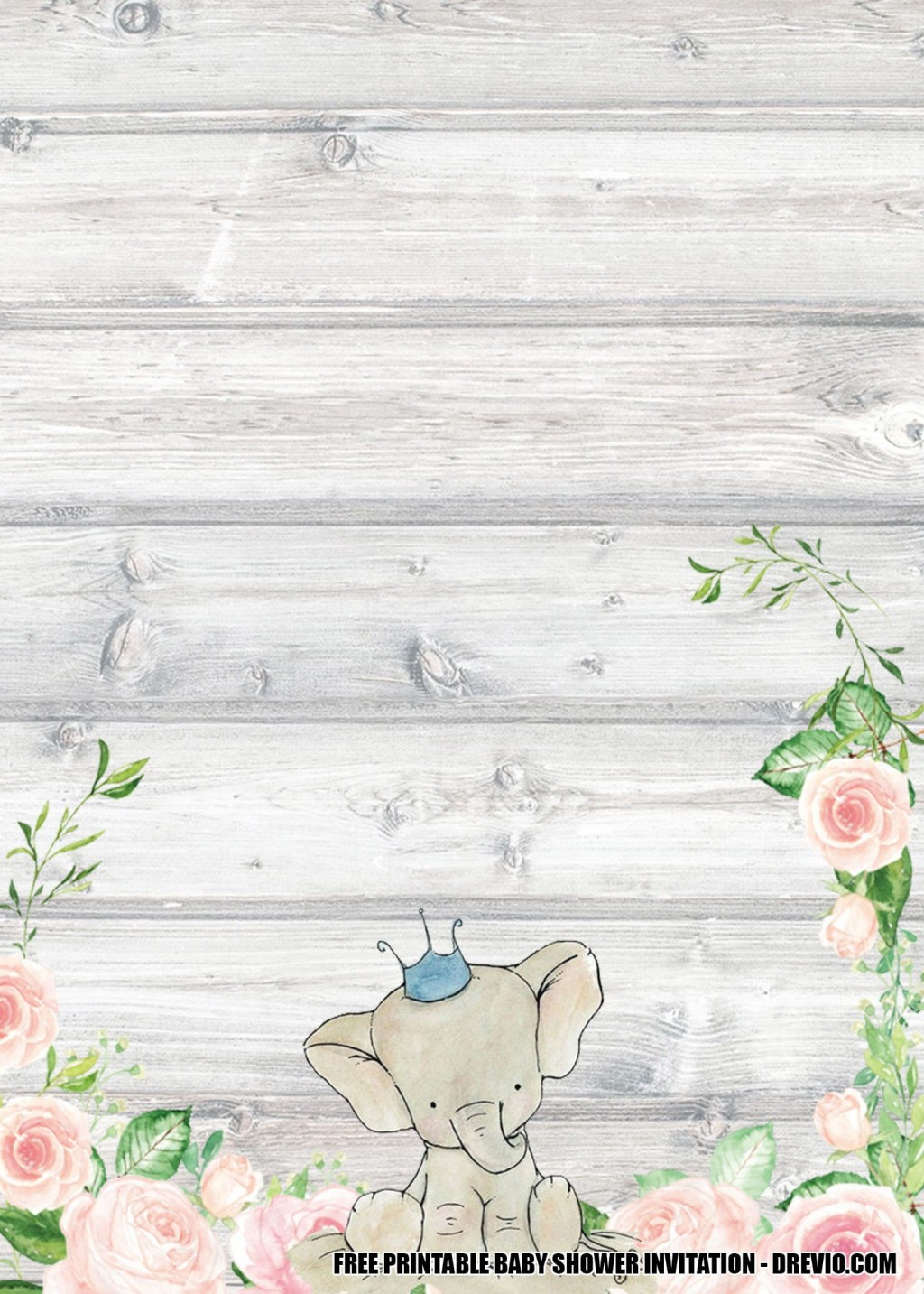 008 Outstanding Free Baby Shower Printable Elephant Highest Quality  DecorationLarge