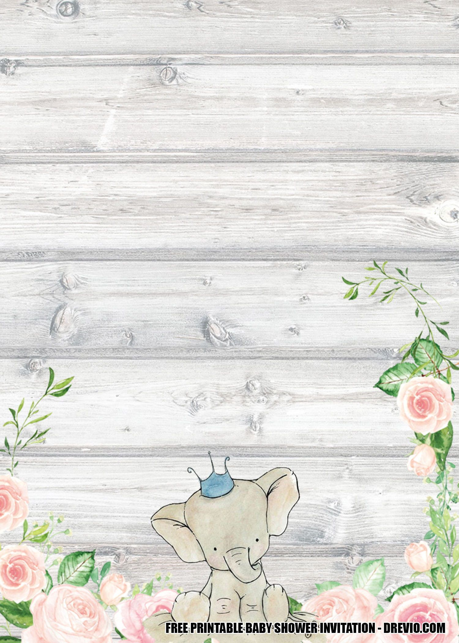 008 Outstanding Free Baby Shower Printable Elephant Highest Quality  DecorationFull