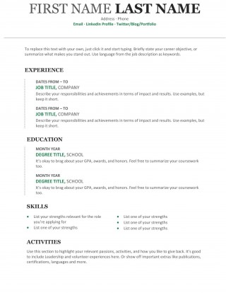 008 Outstanding Free Chronological Resume Template Idea  2020 Cv320