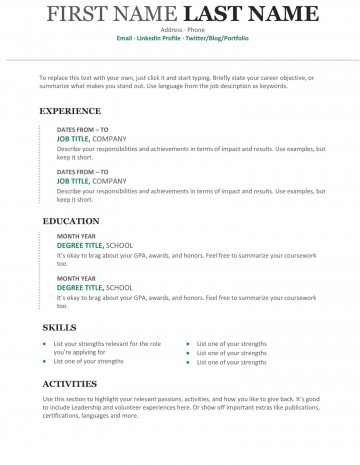 008 Outstanding Free Chronological Resume Template Idea  2020 Cv360