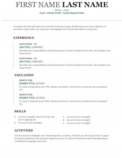 008 Outstanding Free Chronological Resume Template Idea  2020 Cv480