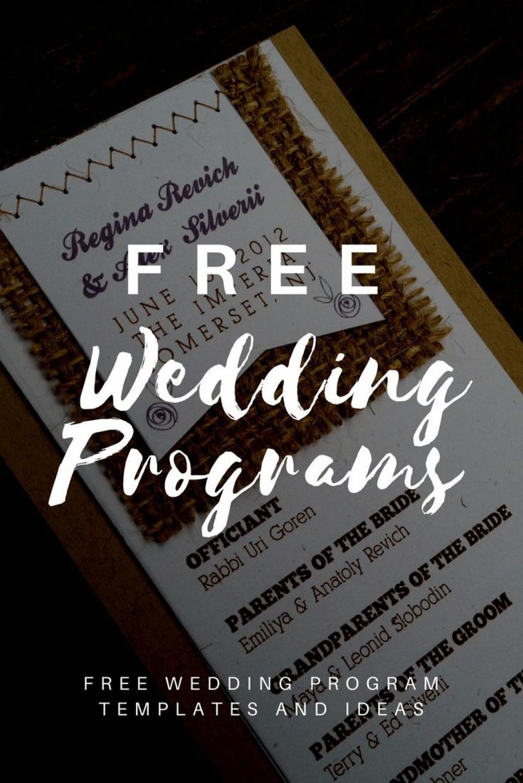 008 Outstanding Free Wedding Program Template High Resolution  Templates Pdf Download Fan WordLarge