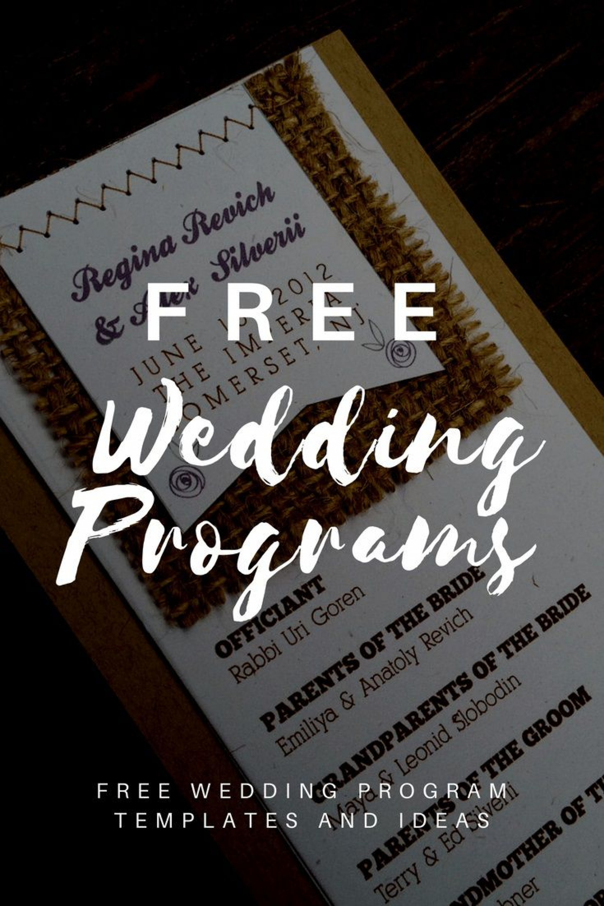 008 Outstanding Free Wedding Program Template High Resolution  Templates Pdf Download Fan Word1920