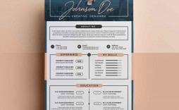 008 Outstanding Photoshop Cv Template Free Picture  Modern Psd Resume Download