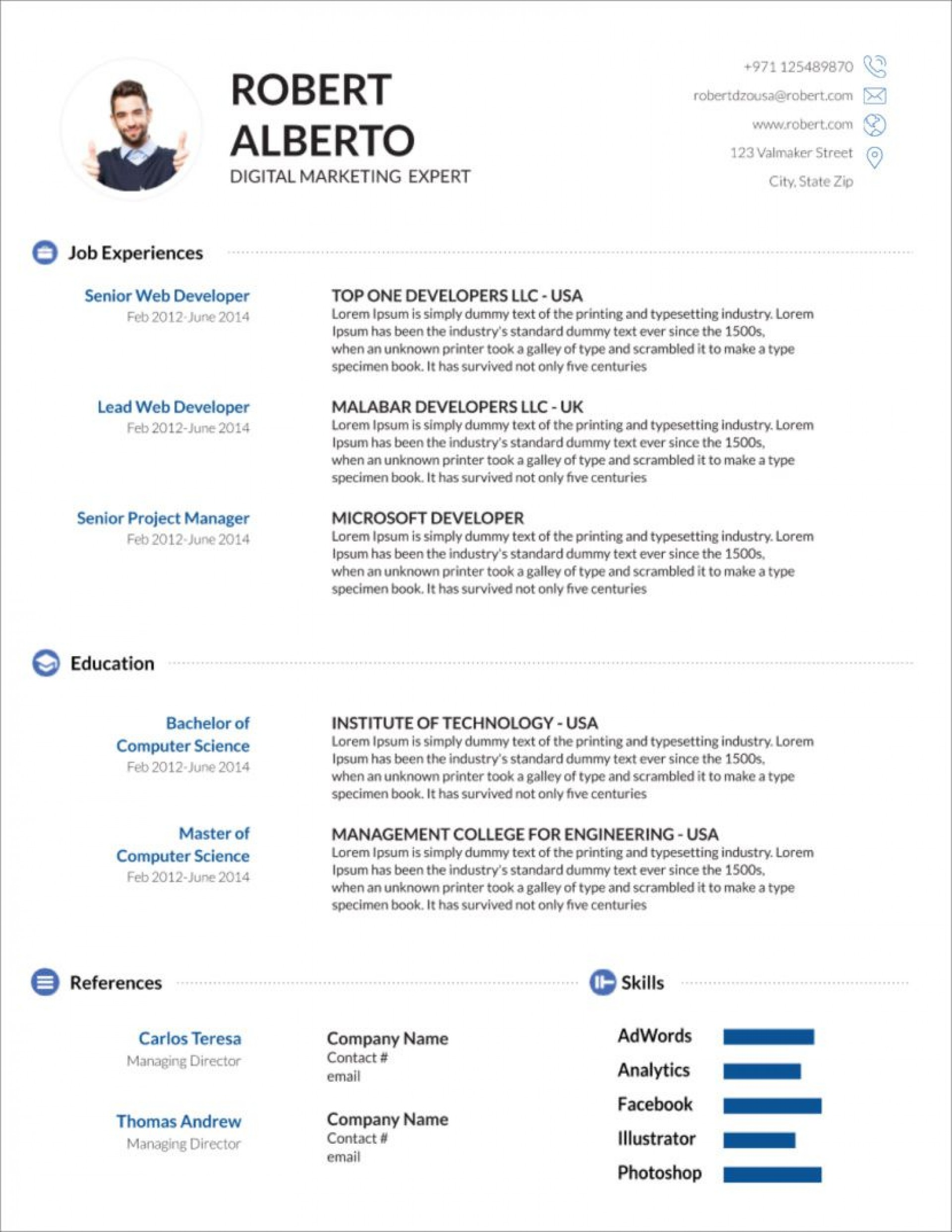 008 Outstanding Resume Template Word Download Image  For Fresher In Format Free 20201920