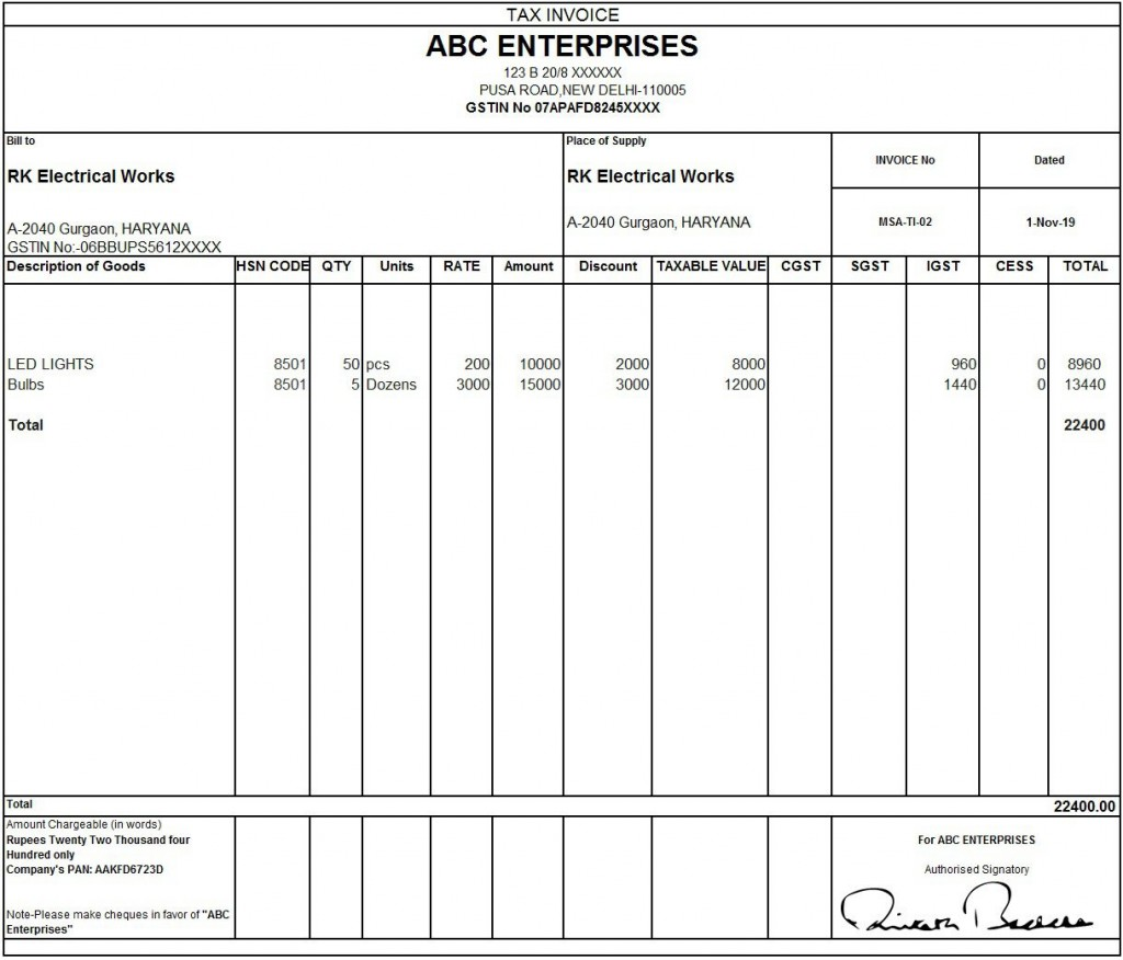 008 Outstanding Sample Tax Invoice Excel Download Highest Quality Large