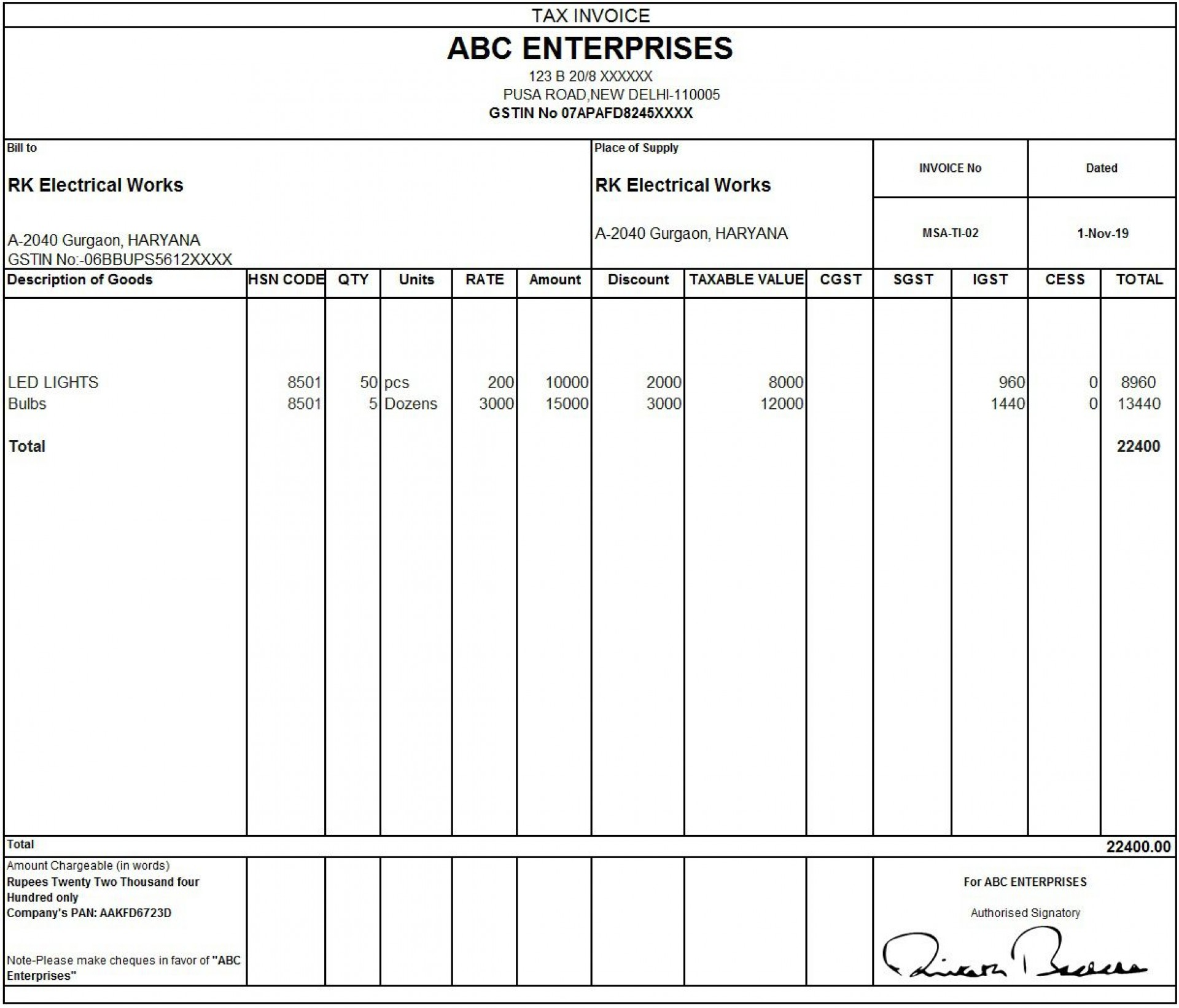 008 Outstanding Sample Tax Invoice Excel Download Highest Quality 1920