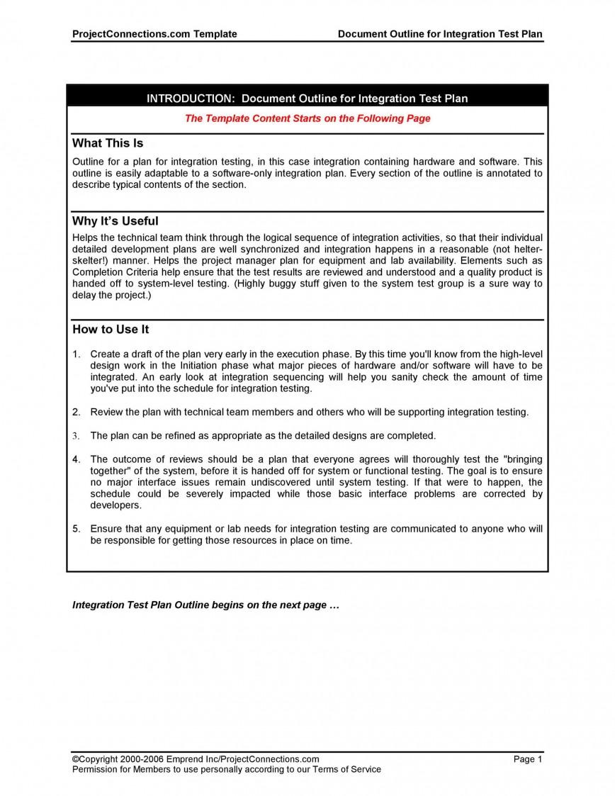 008 Outstanding Software Test Plan Template Design  Templates