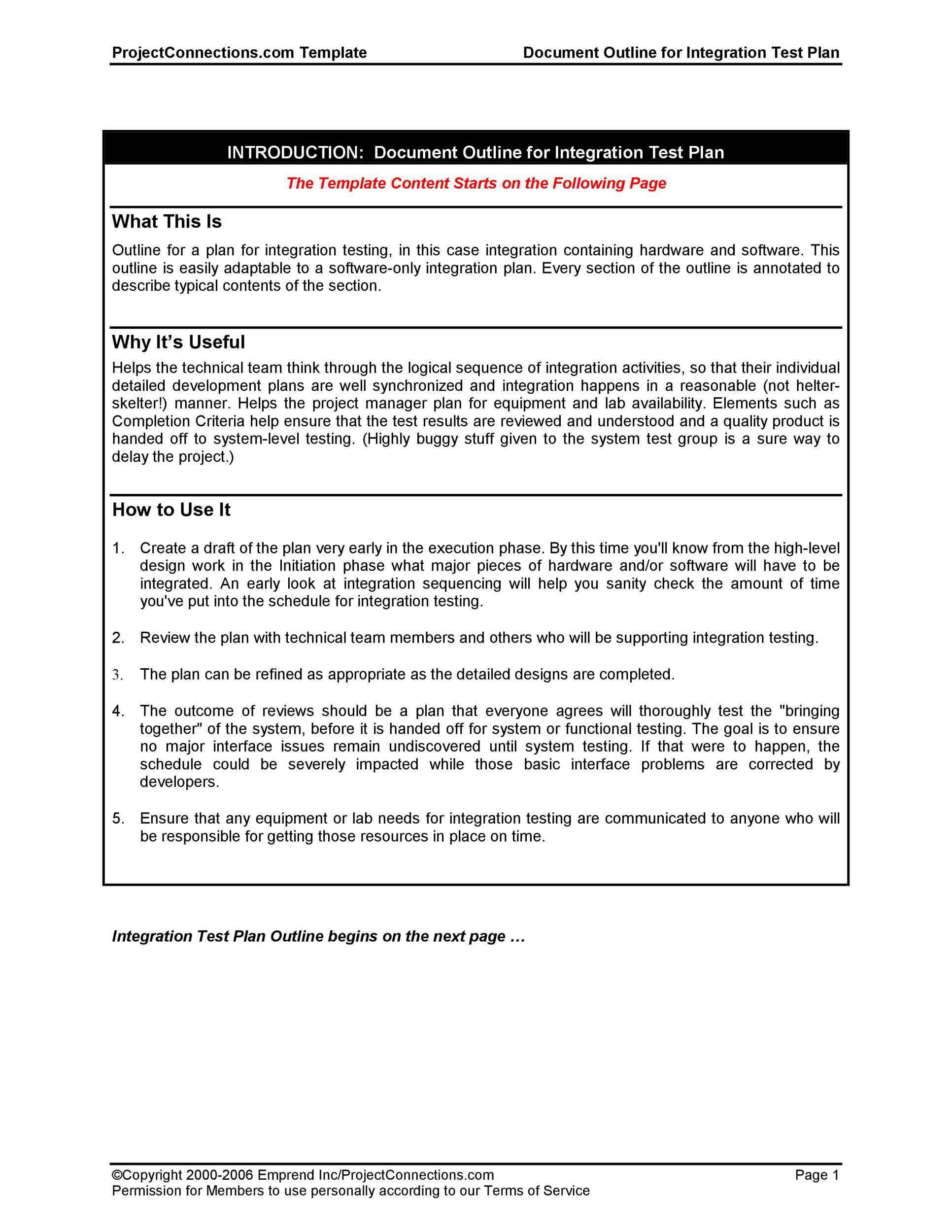 008 Outstanding Software Test Plan Template Design  TemplatesFull