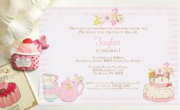 008 Outstanding Tea Party Invitation Template High Definition  Online Letter