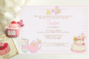 008 Outstanding Tea Party Invitation Template High Definition  Vintage Free Editable Card Pdf360