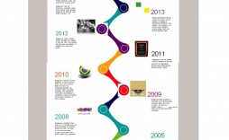 008 Outstanding Vertical Timeline Template For Word Inspiration  Blank
