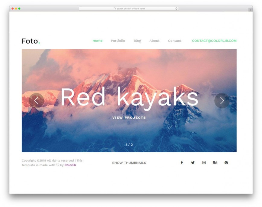 008 Outstanding Web Template For Photographer Concept  Photographers Photography Free