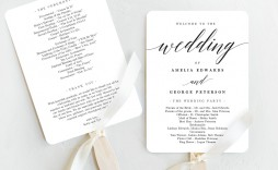 008 Outstanding Wedding Program Fan Template High Resolution  Free Word Paddle Downloadable That Can Be Printed