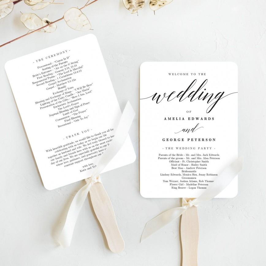 008 Outstanding Wedding Program Fan Template High Resolution  Etsy Paddle Free Microsoft Word