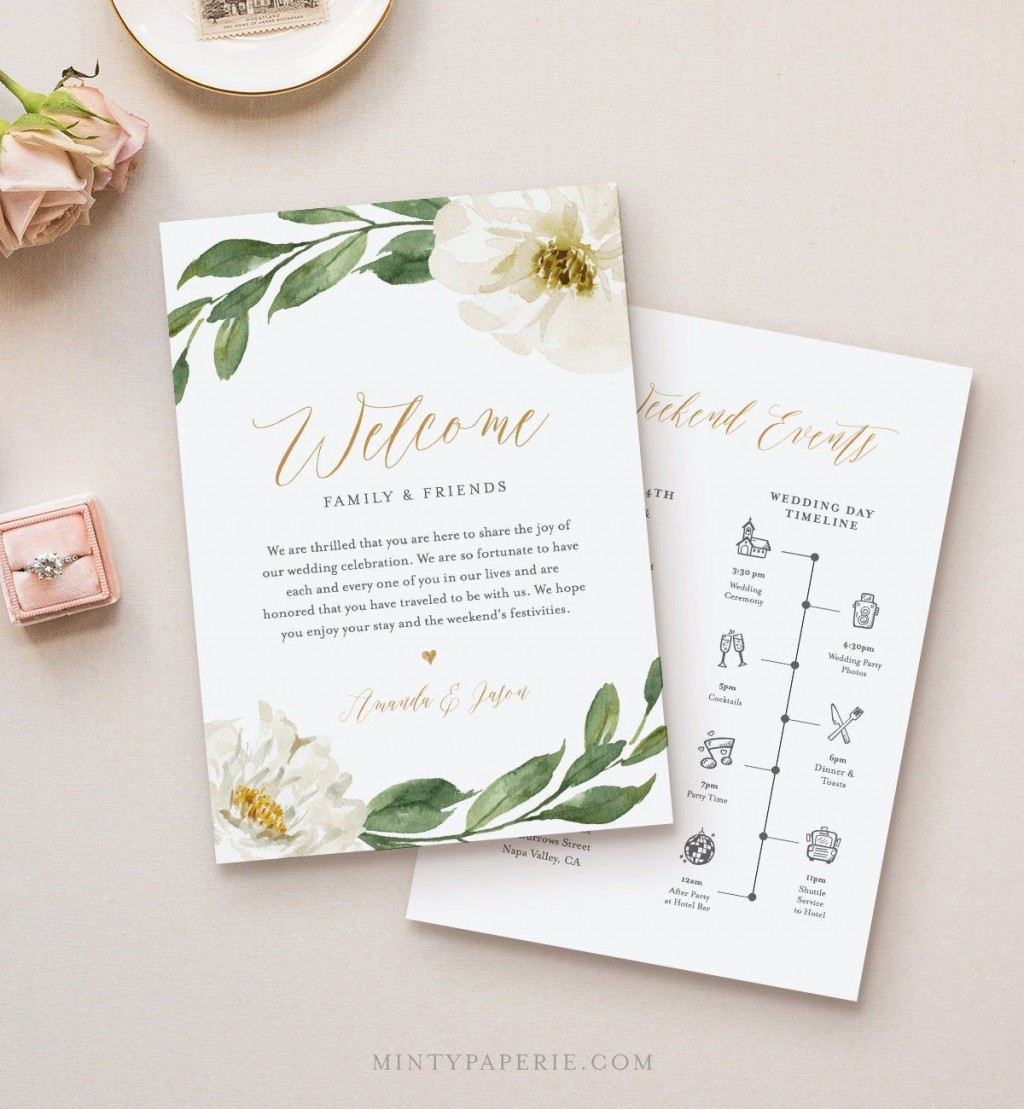008 Outstanding Wedding Welcome Letter Template Download High Definition Large