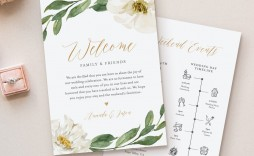 008 Outstanding Wedding Welcome Letter Template Download High Definition