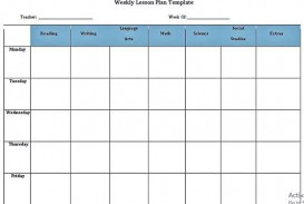 008 Outstanding Weekly Lesson Plan Template Pdf Sample  Blank